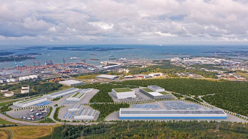 Luftfoto Gøteborg Havn